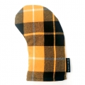 Seamus Golf Black Yellow Plaid Hybrid Headcover
